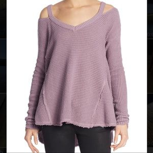 Free People 'Moonshine' Cold Shoulder Sweater - L
